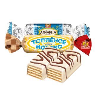 俄罗斯进口斯拉夫人酸奶鲜奶威化糖1000克/包