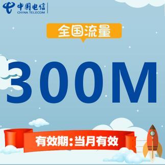 中国电信全国流量充值 300MB