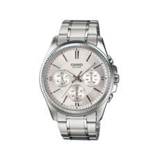 卡西欧手表男 商务防水夜光石英表皮钢带指针手表MTP-1375D-7A