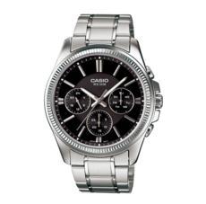 卡西欧手表男 商务防水夜光石英表皮钢带指针手表MTP-1375D-1A
