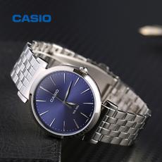 casio/卡西欧手表男简约石英表防水皮钢带正品男表MTH-1059D-2A
