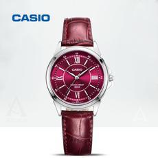 casio卡西欧手表女表正品红色皮带商务休闲防水石英表LTH-1061L-4