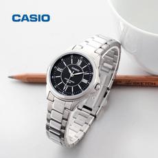 casio卡西欧手表女表正品红色皮带商务休闲防水石英表LTH-1061D-1A