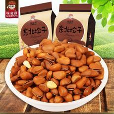 味滋源东北松子208gx2袋坚果炒货特产野生开口原味炒货松子