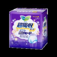 日本花王乐而雅安心裤 超吸收多量夜用裤型卫生巾48cm 5片