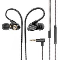 Remax/睿量 RM-580 入耳式耳机 双动圈四核重低音魔音K歌通用耳机