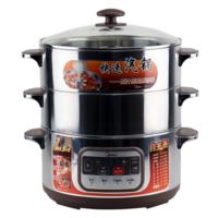 Midea/美的SYS28-2Q多功能电蒸锅不锈钢双层大容量汽锅蒸预约家用