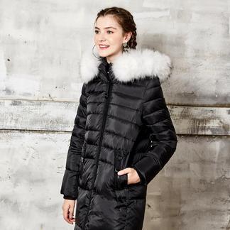 puella貉子毛领羽绒服女防寒个性2017冬装新款韩版修身收腰中长款外套20010255