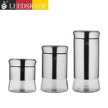 【积分兑换】利兹 不锈钢玻璃密封罐三件套109025