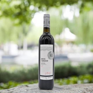 俄罗斯原瓶进口红酒库班美乐干红葡萄酒1支700ml