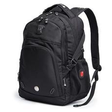 SWISSWIN瑞士军刀 商务休闲双肩包男背包运动书包SW9017(黑色)