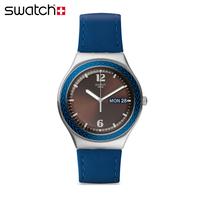 斯沃琪 Swatch 手表2014时尚男士皮带腕表 非洲鼓YGS774