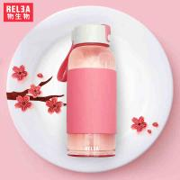 物生物新款思密达多色创意便携玻璃杯 夏季必备玻璃果汁杯