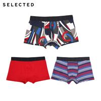 SELECTED思莱德 春季新款男图案3件装内裤 41717G503