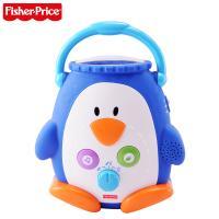 芭比玩具 费雪声光安抚小企鹅GP 安抚宝宝 儿童玩具W9893【五折特惠】