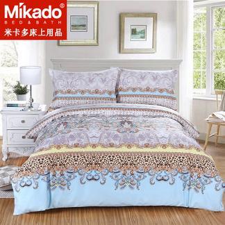 米卡多简约被套床笠纯棉四件套全棉双人床1.8m1.5m床上用品4件套