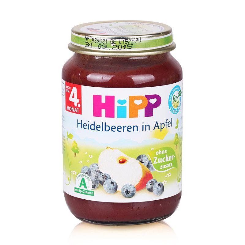 【德国直邮】Hipp 喜宝有机蓝莓苹果泥 190g 4个月以上