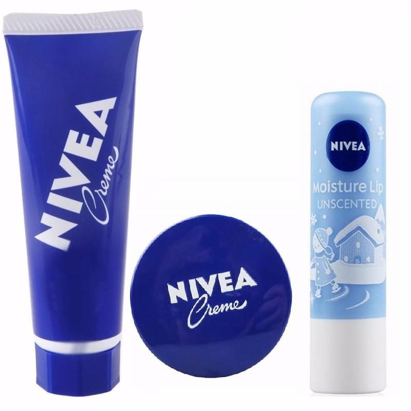 NIVEA/妮维雅 蓝色大罐护手霜、唇膏组合