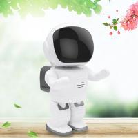 杰特康机器人无线摄像头wifi智能网络监控器手机远程创意礼品电子产品IPC001 视频机器人-白色