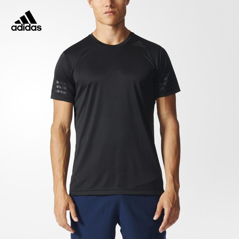 adidas 阿迪达斯 训练 男子 短袖t恤 黑 bk6120