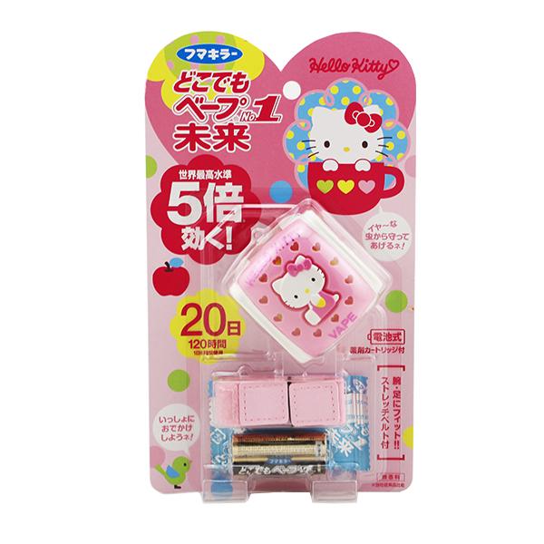日本 VAPE/未来 Hello Kitty儿童驱蚊手表 驱蚊手环 宝宝夏季便携电子驱蚊器 120小时量