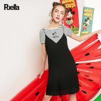puella2017夏迪士尼米奇唐老鸭T恤连衣裙套装女20010058