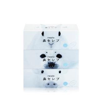 日本 Nepia/妮飘鼻纸鼻子贵族超柔软纸巾*针对鼻炎鼻敏感*200抽*3盒