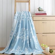 花果果 灵槐叶瑶毛巾被 全棉亲肤 柔软细腻 吸湿透气