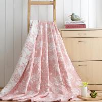 花果果 玫瑰花 AB面全棉三层纱布毛巾被 柔软透气
