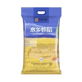 【生态虾稻5kg】大米包邮长粒香米湖北潜江特产5公斤16年新米10斤