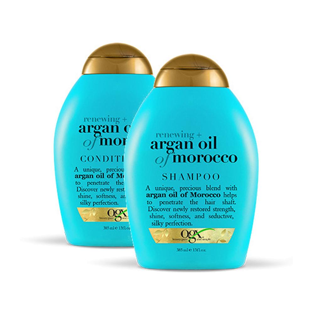 【澳洲直邮|包税包邮】OGX欧姬丝摩洛哥坚果油-洗发水385ml+护发素385ml套装