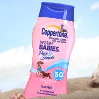 美国coppertone确美同水宝宝温和纯净防晒霜SPF50 237ml