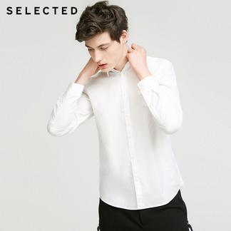 SELECTED思莱德夏季新款男纯棉贴布图案衬衫417305501