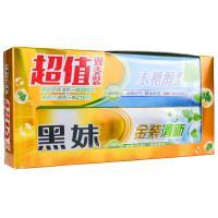 【天顺园店】黑妹木糖醇牙膏210g+金装清新牙膏200g(编码:537081)