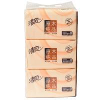【超级生活馆】清风原木纯品软抽面纸1*3(编码:296710)