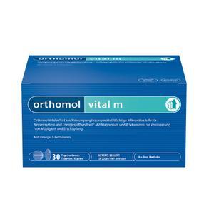 【德国直邮】[1盒] ORTHOMOL奥适宝VITAL M男性保健营养素维生素 缓解压力疲劳改善睡眠克服亚健康 片剂+胶囊 30组
