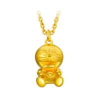 【预售】潮宏基珠宝 3D硬金哆啦A梦福禄元宝 足金女款黄金项链吊坠CP0001261900