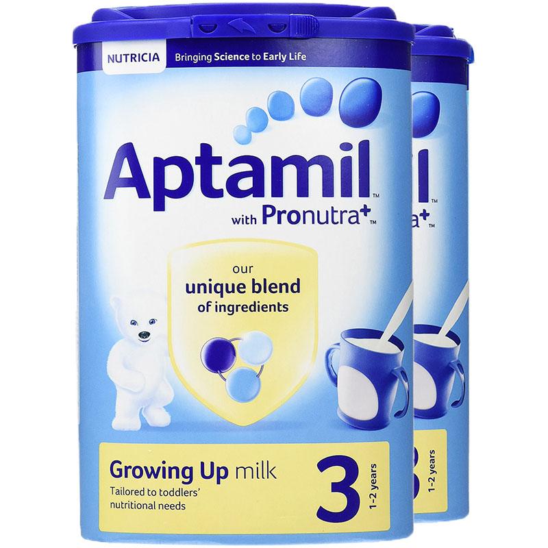 保税区直发 英国Aptamil/爱他美婴幼儿奶粉3段(1-2岁)900g 2罐装