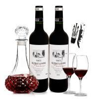 波菲酒庄 拉蒙特古堡干红葡萄酒 法国原瓶进口 750ml*2瓶 送酒具六件套