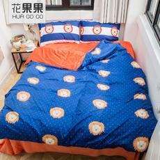 花果果 简约保暖棉加绒床上四件套