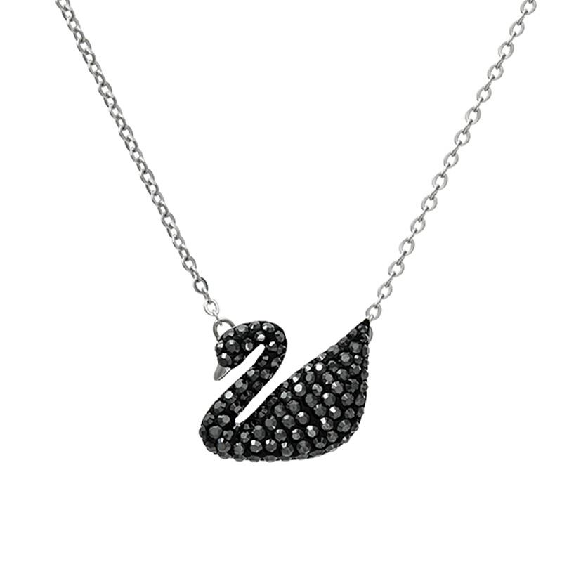 【海外直邮】Swarovski施华洛世奇 Iconic Swan 大黑天鹅银链 5347329