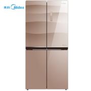 美的(Midea)BCD-432WGPZM 432升冰箱 对开门家用变频风冷无霜多门电冰箱
