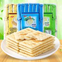 AJI酵母减盐苏打饼干472.5g *3纳豆酵素味酵母减盐味五谷纤麦位 咸味苏打零食批发