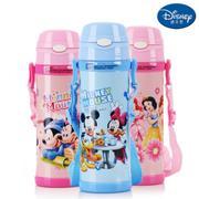 【包邮】迪士尼Disney-保温杯480毫升高真空双层健康儿童学生吸管背带户外水壶杯子