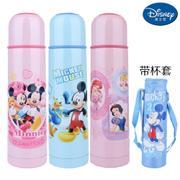 【包邮】迪士尼Disney-子弹头保温杯480毫升不锈钢背带冷热水壶旅行户外休闲便携直饮暖水瓶
