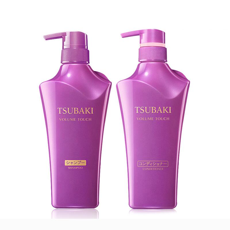 日本Shiseido/资生堂 紫椿洗护套装 洗发水500ml+护发素500ml 控油去头屑