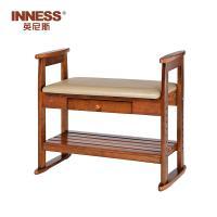 英尼斯 实木换鞋凳鞋柜现代简约门口换鞋凳鞋架可坐储物凳 ST9824