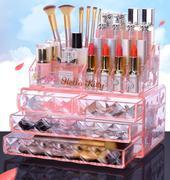 Hellokitty 亚克力化妆品收纳盒透明梳妆台护肤品首饰口红收纳盒