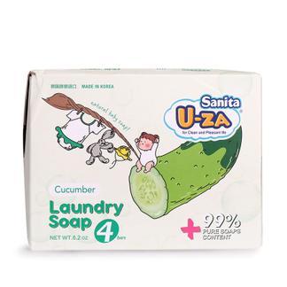 U-ZA婴幼儿黄瓜洗衣皂四联装X2(176g*8)