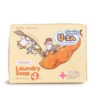 U-ZA婴幼儿大豆洗衣皂四联装X2(176g*8)
